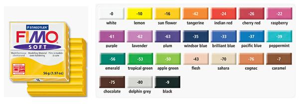 Tipi di fimo colorazione fimo soft