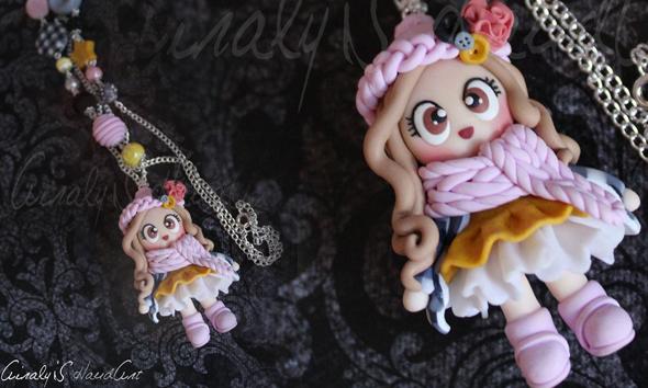 Bambolina Doll In Fimo Invermo Collana
