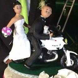 cake topper decorazione torta matrimonio sposi fimo