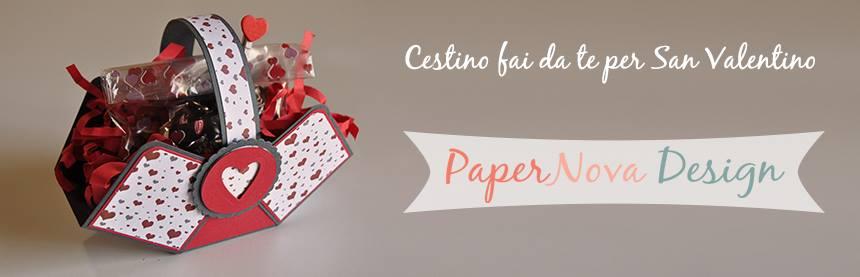 Cestino fai da te per san valentino PaperNova Design