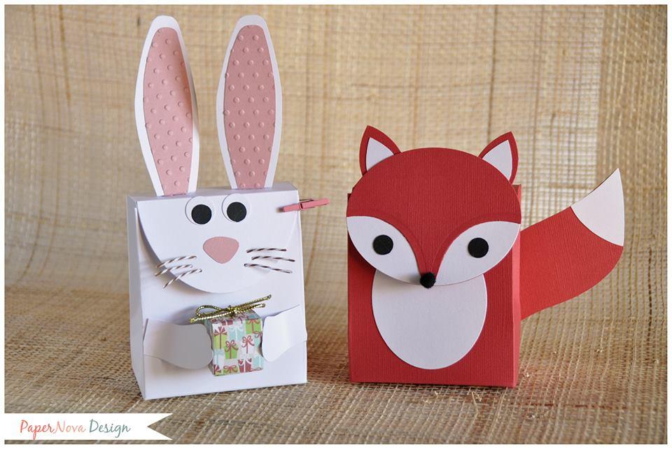 Eccezionale scatola regalo in carta fai da te volpe coniglio - Creazioni in Fimo AC43
