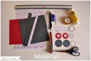 materiale scatola fai da te per san valentino