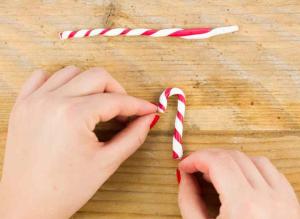 bastoncini di zucchero avvitato rosso e bianco fimo